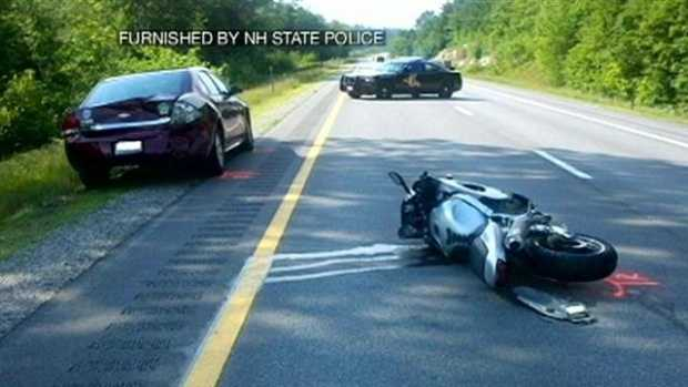 No. 9: A motorcycle was clocked going 143 miles per hour before a crash. Click here to watch the video.