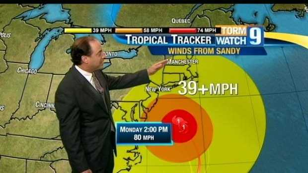 No. 1: Of course, all of those critical Hurricane Sandy forecasts topped our list of most popular videos. Mike Haddad, Kevin Skarupa, Josh Judge and others delivered frequent Hurricane Sandy forecasts as it roared closer to the U.S. coast. Click here to watch Mike Haddad's forecast the night before the storm made landfall.