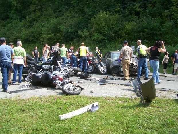 No. 8: Two people were killed in a serious crash involving several motorcycles and a vehicle on Route 12 in Westmoreland in August.