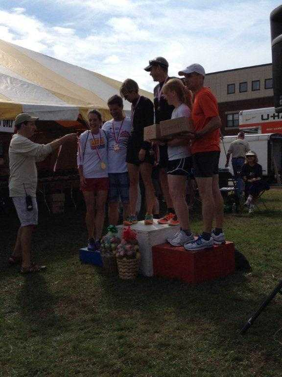 BEST AWARDS: Apple pies and baskets stuffed with apples for the winners at the Applefest Half Marathon. Oh, and they also give out cash to the first place winners, or so I'm told. Congrats to the gang at this great NH tradition for 30 great years of racing. Read Jamie's full blog here.