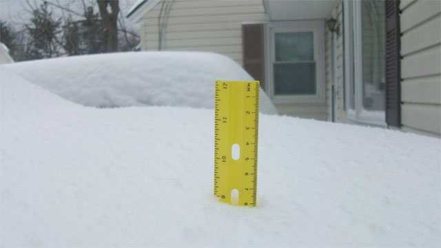 View town-by-town snow totals from the first major storm of the season.