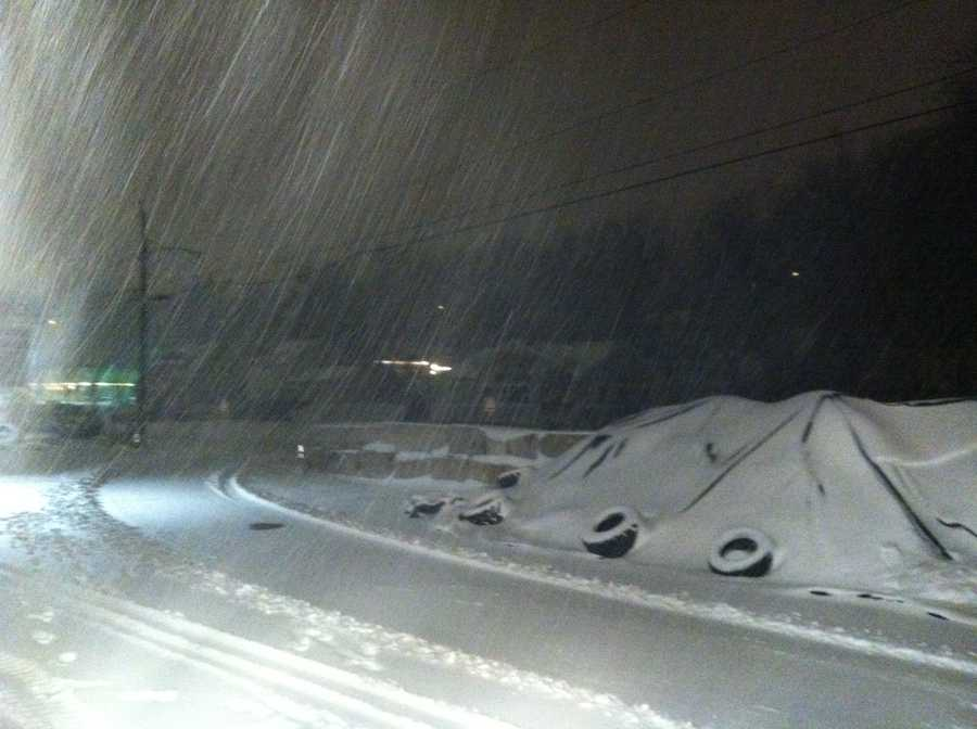 A Nor'easter dumped heavy snow across New Hampshire late Wednesday night through Thursday.Here's a look at the snow in Manchester.