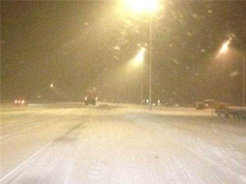 The snow along I-93