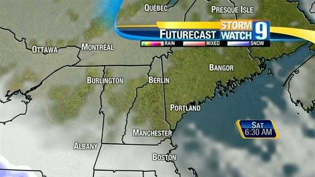 Around 1-3 inches of new snow is on the way to New Hampshire Saturday. Click through for an hour-by-hour look at the storm's projected path.
