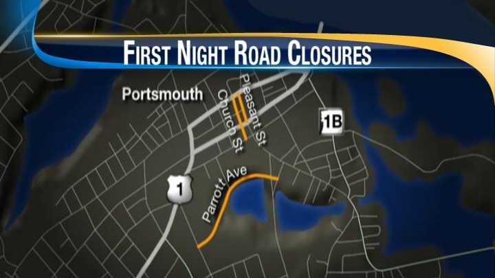 Portsmouth First Night road closures