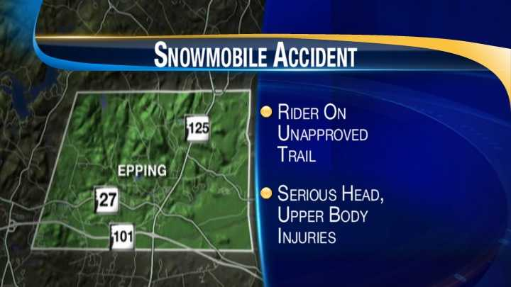 Woman seriously injured after snowmobile accident in Epping