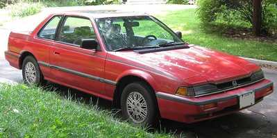 Kevin's first car was a 1984 Honda Prelude (pictured is a Honda Prelude made between 1983 and 1987).