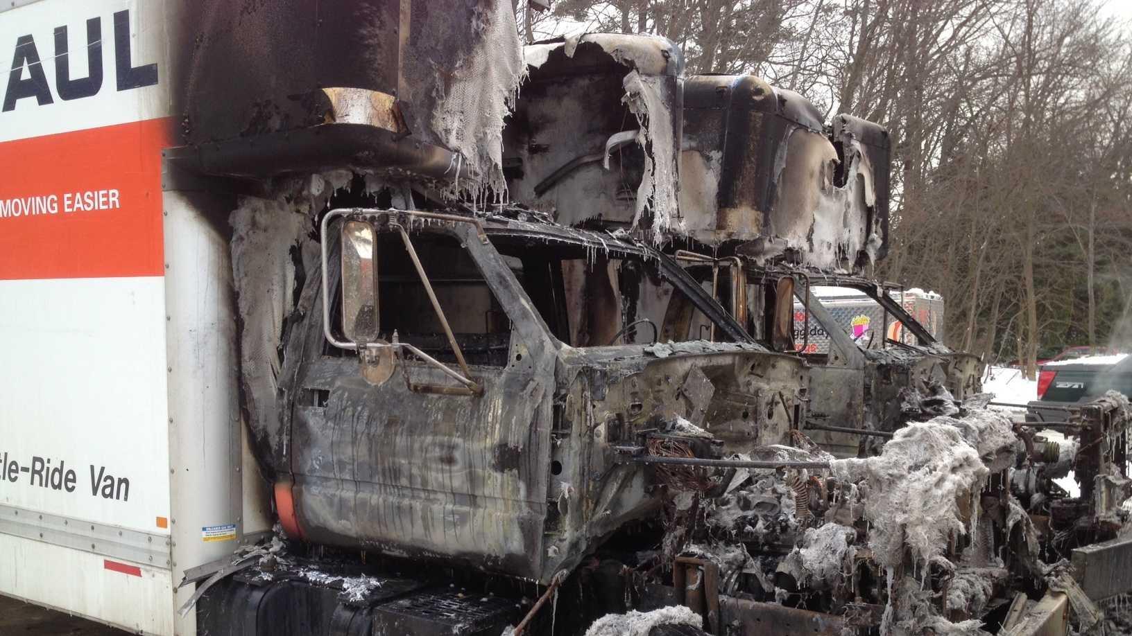 Burned U-Haul trucks