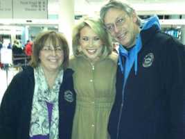 Megan with her mother and father.