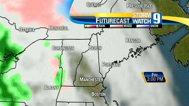 Rain and mix are possible across New Hampshire Friday night.