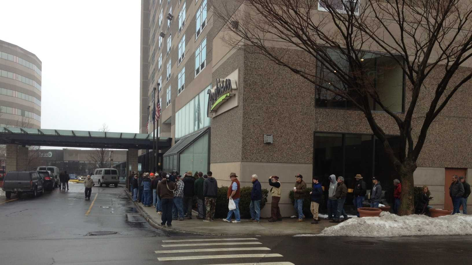 Hundreds turn out of the DiPrite Promotions gun show in Manchester.