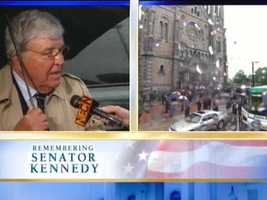 Anchoring New England Cable News coverage of the death of Sen. Edward Kennedy.