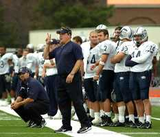 Kelly served first as running backs coach (1992) and later as offensive coordinator (1999-2006) for UNH's football team.