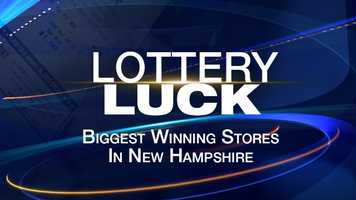 Take a look at the stores where lottery players have won the most in New Hampshire.
