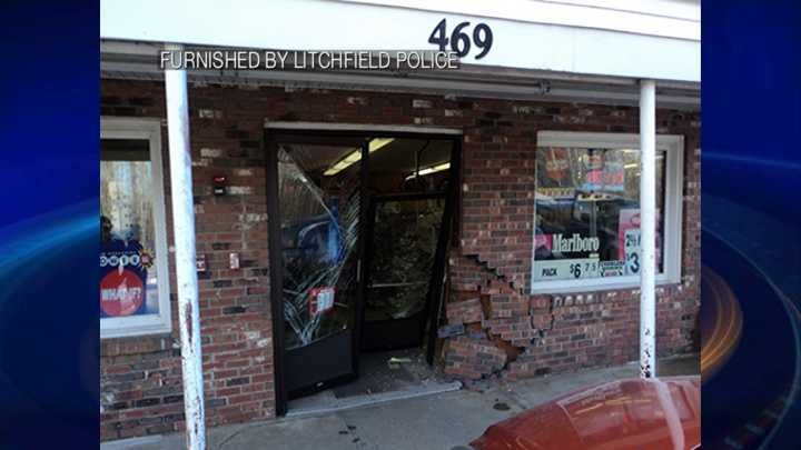 Car crashes through wall of Pantry Pride Convenience Stores in Nashua