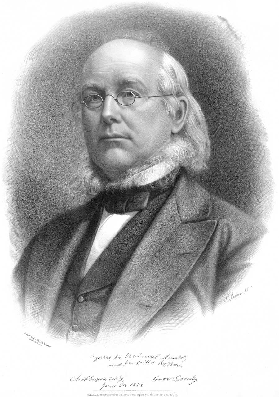 If Tom could choose to interview anyone, he would interview Horace Greeley.