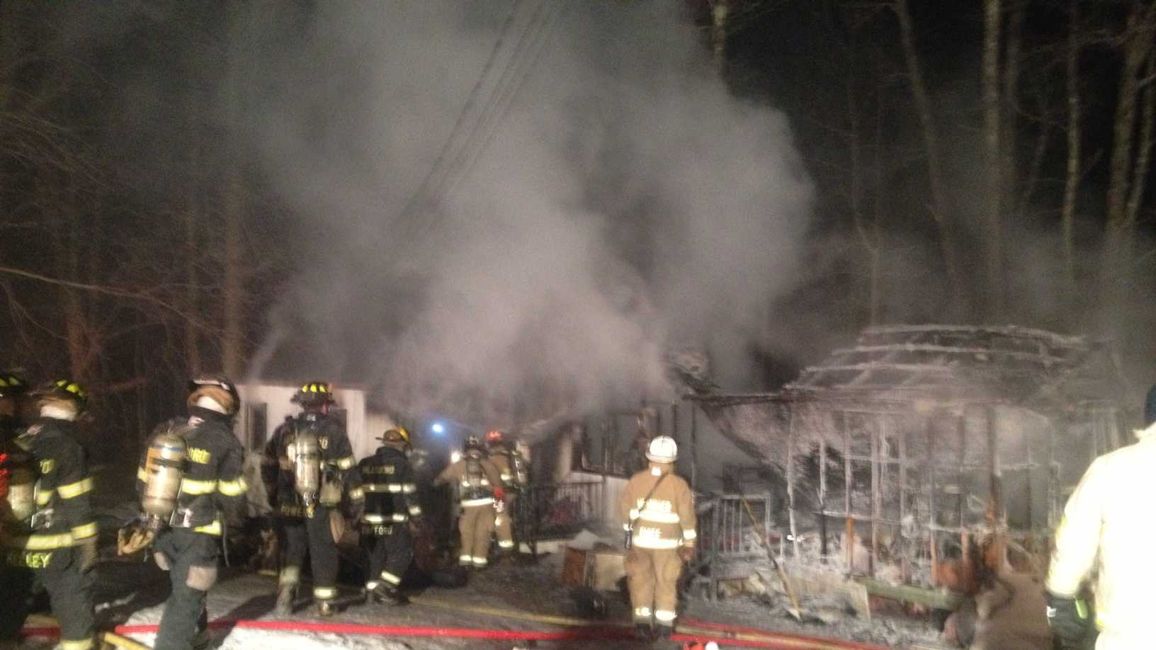 Fire destroyed a Hillsborough mobile home, sending one person to the hospital
