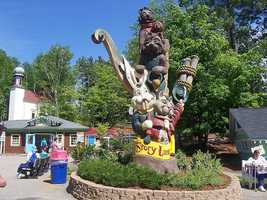 """Erin's favorite family destinations are Story Land in Glen and Santa's Village in Jefferson. """"At Santa's Village my kids love to decorate gingerbread cookies and ride the reindeer coaster and at Story Land we love getting soaked on Splash Battle,"""" Erin said."""
