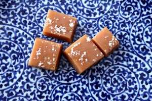 """The foods Erin can't live without? Salted caramels (pictured) and pecan turtles. """"I don't just have one sweet tooth, I've got a mouth full of them and the cavities to prove it,"""" Erin said."""