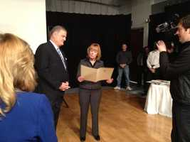 Gov. Maggie Hassan declared Jan. 25, 2013 Tom Griffith Day in New Hampshire.