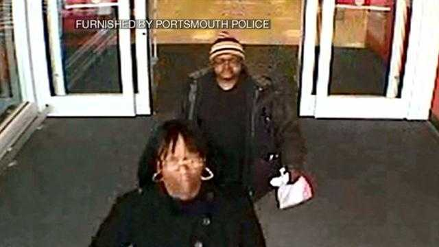 Portsmouth police say two people stole thousands of dollars from a shopper in Portsmouth this week.
