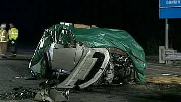 The driver of the Forester, 69-year-old Richard Monahon, and his wife, 71-year-old Mary Monahon, were pronounced dead at the scene, police said.