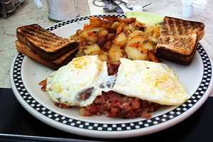 """Jamie's restaurant of choice? """"Auburn Congregational Church breakfasts, first and third Saturday every month,September to May,"""" Jamie said. He also enjoys MaryAnn's Diner in Derry."""