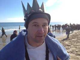 Among those taking part was News 9's Kevin Skarupa, who jumped in the water a total of five times.