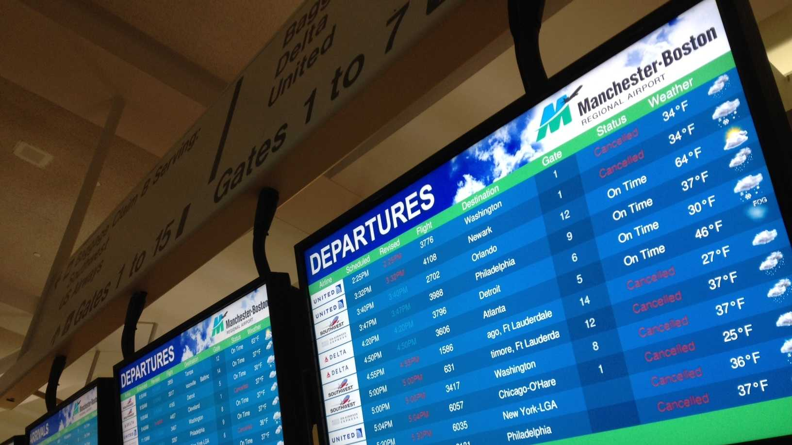 Manchester airport cancellations