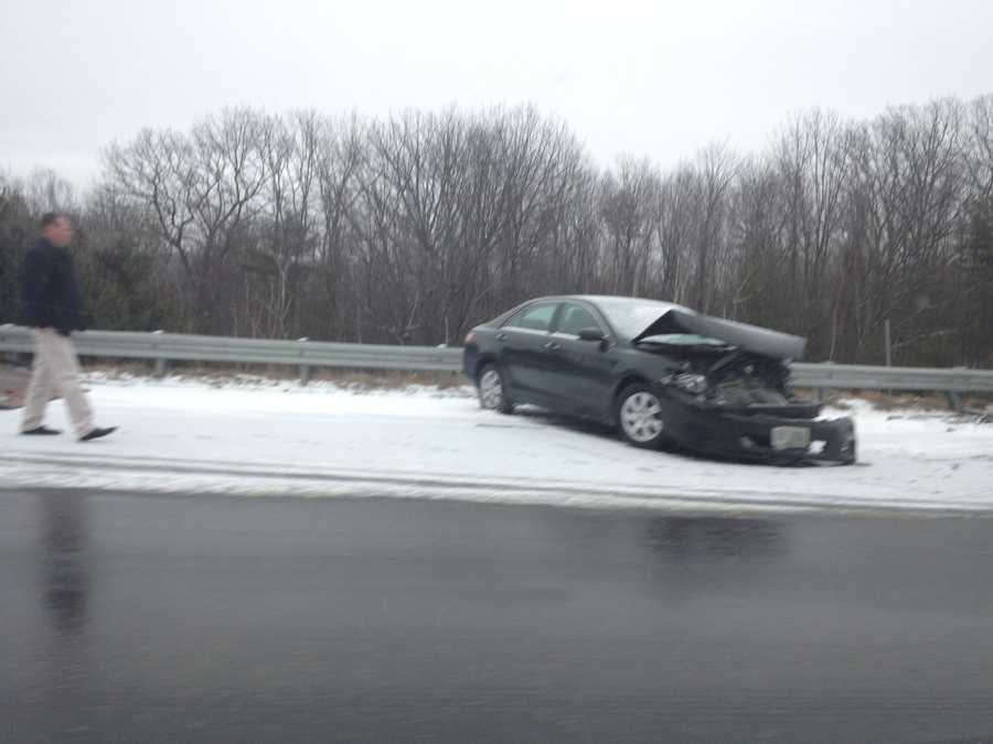 Concord - Rt. 93car off the road