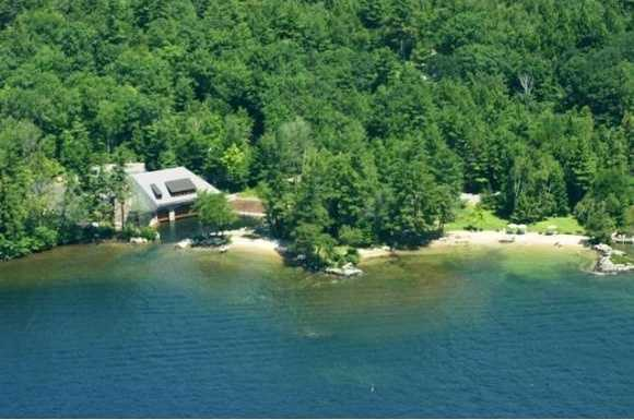 """According to the Realtor, this property is a """"once in a lifetime opportunity to acquire Lake Winnipesaukee's prime waterfront property. This majestic estate has had only 2 owners since the 1940s. Vintage rustic elegance is the hallmark of this estate."""""""