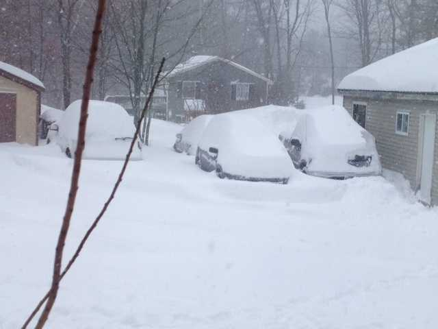 Take a look at these pictures of the nor'easter from around the state. Here's a shot in Barrington.