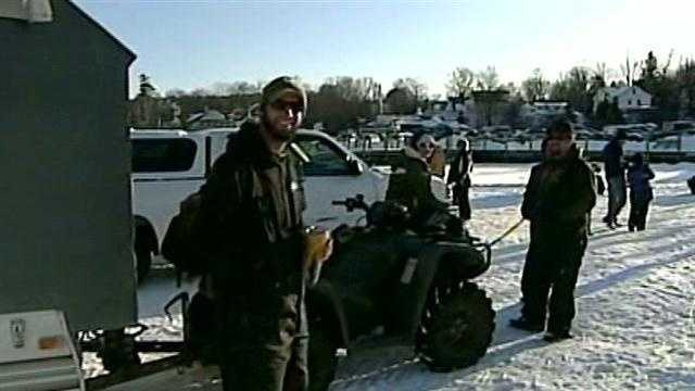 The nor'easter didn't stop thousands of fishermen from heading to this fishing derby in Meredith this weekend.
