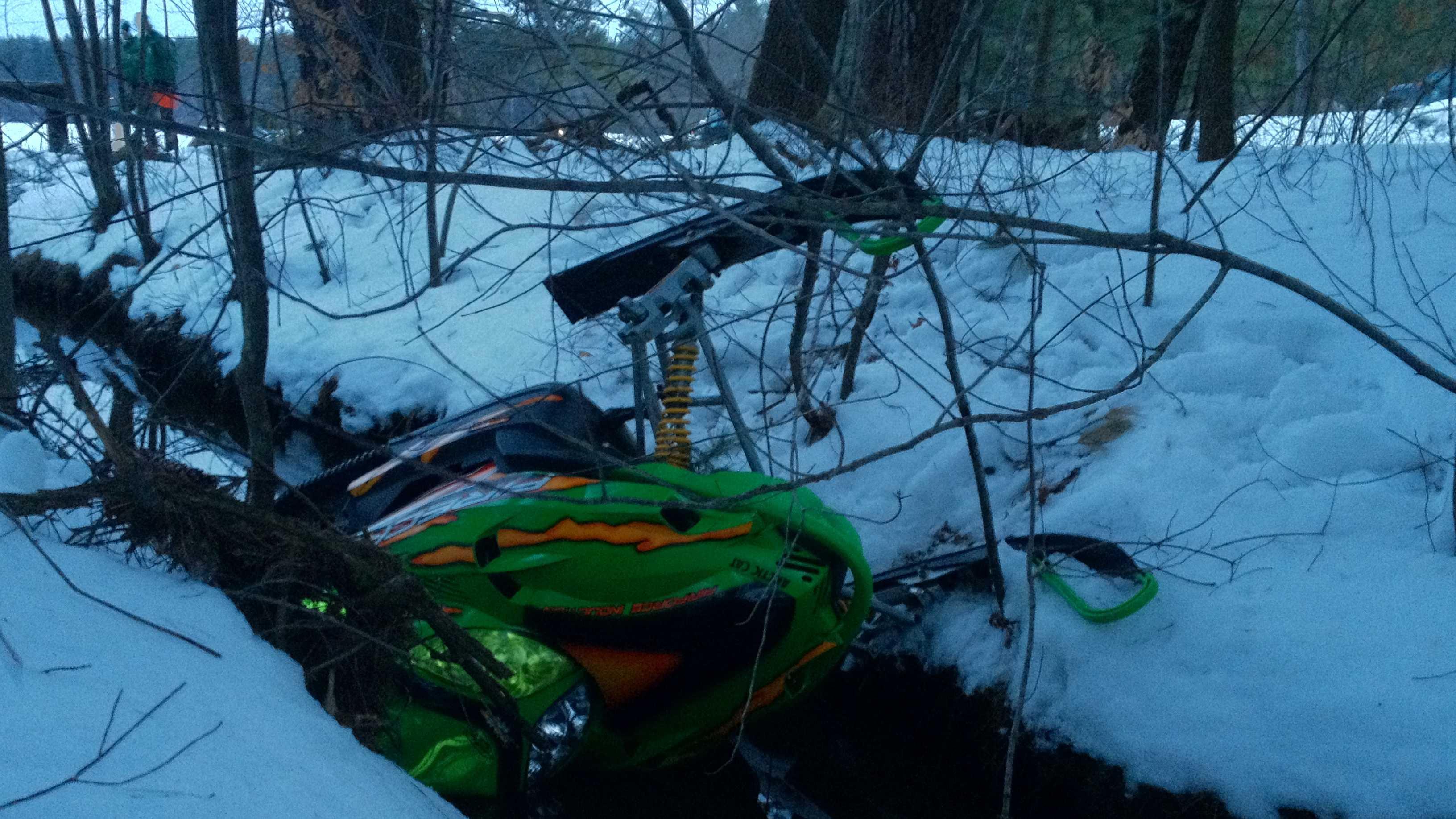 Snowmobile accident in Auburn