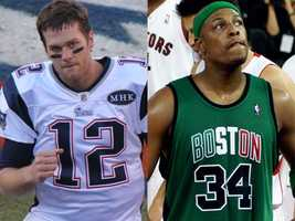 """Mike's favorite sports teams are the…""""Boston Celtics. New England Patriots are a somewhat close 2nd,"""" Mike said."""