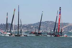 """The world event Mike would like to see in person? """"The America's Cup Finals in San Francisco this September. They are racing 72 foot catamarans…they look like spaceships on the water,"""" Mike said."""