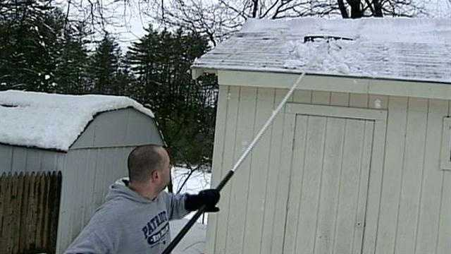 Snow on roofs could trigger collapses