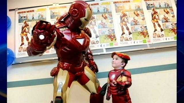 Salem boy hero joins forces with Iron Man