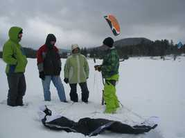 'Snowkiting' is becoming a growing trend in New Hampshire, and now a course is being offered by a Mount Washington hotel.