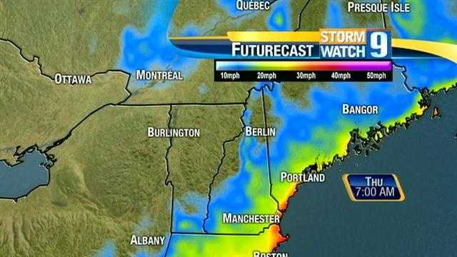 Gusts over 30 mph are expected at the Seacoast through Friday.