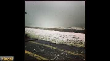 A few shots from high tide on Winthrop beach, March 8, 2013.