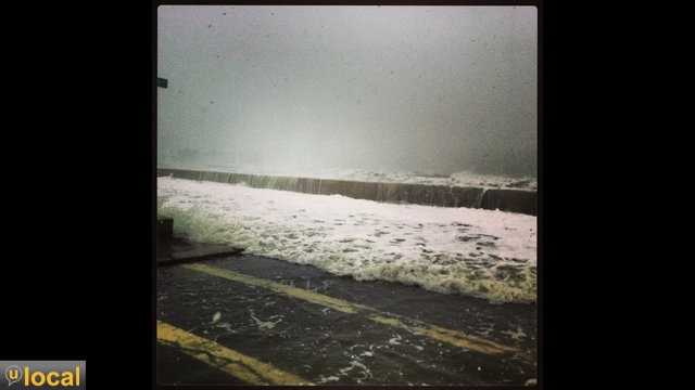 A few shots from high tide on Winthrop beach, March 8, 2013.