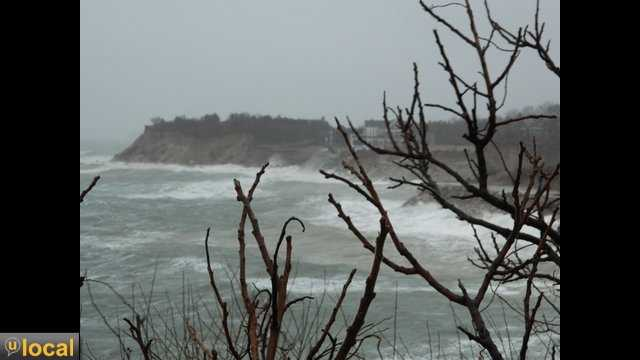 This mornings high tide in Manomet, White Horse Beach