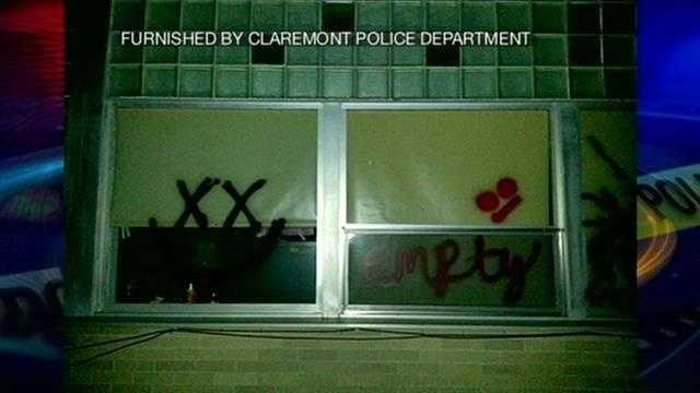Police investigating graffiti in Claremont.
