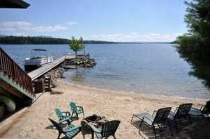The property also includes a 100 foot dock, one of the largest permanent dock's on the lake.