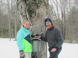 A family that boils sap together, sticks together. At least that is the case for Chris Coulter of Tuftonboro and his 13-year-old daughter, Abby.
