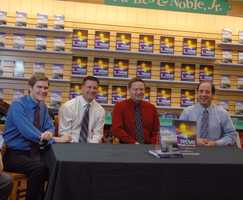 """What is one of Josh's favorite non-storm memories? """"One of the book signings for my second book, 'Extreme New England Weather,' since they contributed a couple stories to the book, the entire WMUR Weather team showed up and we took questions and answers,"""" said Josh."""