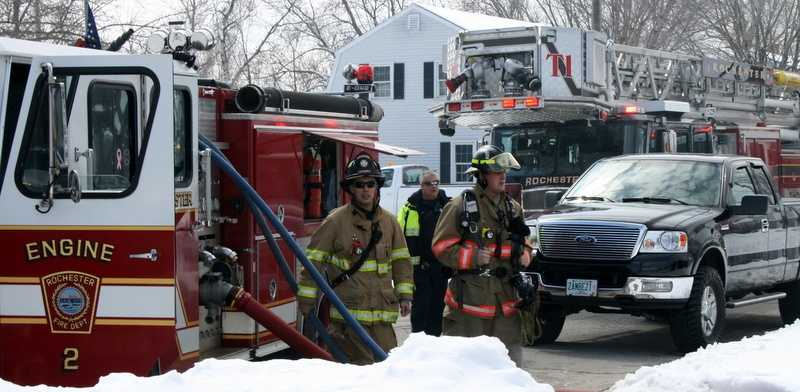 One man was transported to the hospital where he was treated for burns.