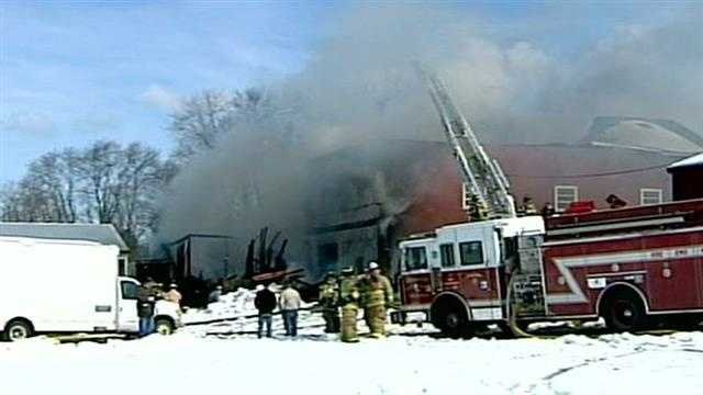 Several towns respond to Wilson Farm fire