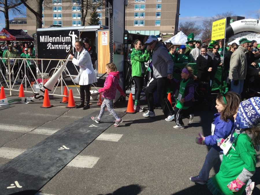 Organizers said about 3,000 people registered for the event including young kids...